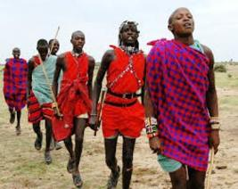 Hakuna matata , the masai people of kenya dancing and singing