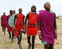 Hakuna matata , the masai people of kenya dancing and singing
