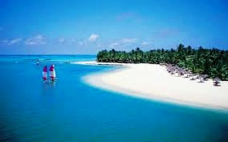 white sands at kenya coast of mombasa for sun bathing and beach holidays