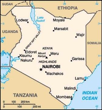 the map of kenya showing somali land communities