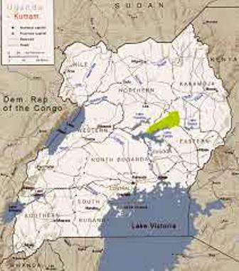 Location of Kumam people