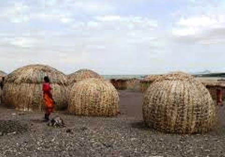 Houses of the Turkana People in Turkanaland Kenya