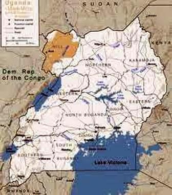 the map showing madi tribe in uganda