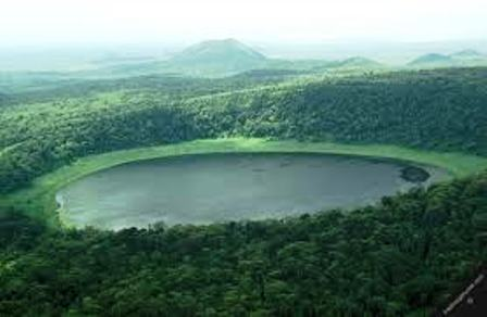 The Crater lake of Marsabit National reserve