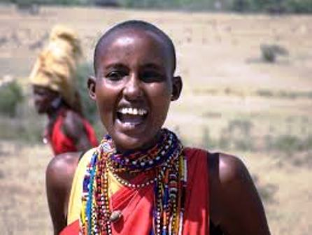 The beautiful masai woman