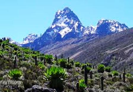 mt kenya seen from Nanyuki or Naro Moru,