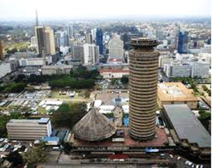 the skyscrappers of nairobi where kibera is found