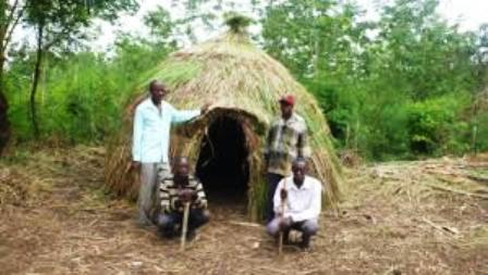 The Traditional house of the Hima people in africa
