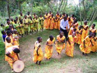 Dance of the Bakiga people in Uganda