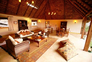 Lounge at Elsa's Kopje Lodge Meru