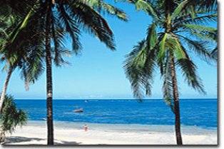 clear waters of mombasa beach town in kenya