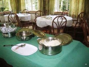 the table  for guests for lunch and afternoon tea on Kiambethu Tea Estate