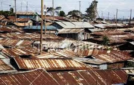 Kibera slum is home to nearly a million people.