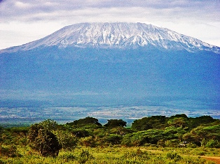 Mt. Kilimanjaro in the back ground