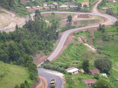 beautiful countryside to Lake Bunyonyi in Kabale