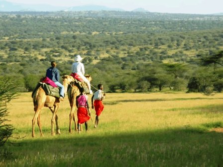 Camel back safaris in Laikipia Game Reserve