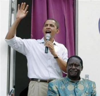 Obama and Raila Odinga , The Most Prominent Descendants of Luo Community in Kenya