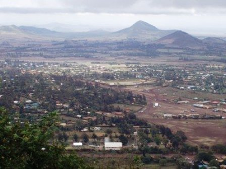 Masabit town near Marsabit National Park in Northern Kenya