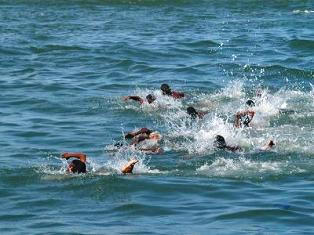 swimming at paraa lodge