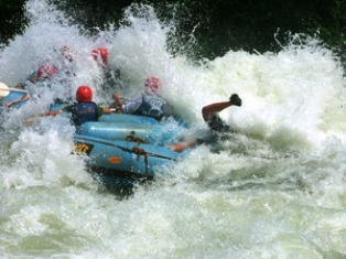 white water rafting at the River Nile