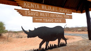 Tsavo National Park entrance photo
