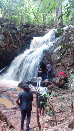 water falls Karura Forest Reserve