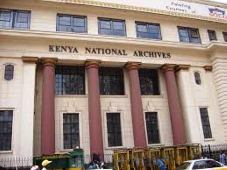 Kenya National Archives building outside