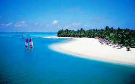white sands at kenya coast of mombasa for sun bathing and beach holidays