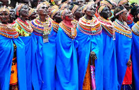 The Samburu Women of Kenya singing on kenya independence day