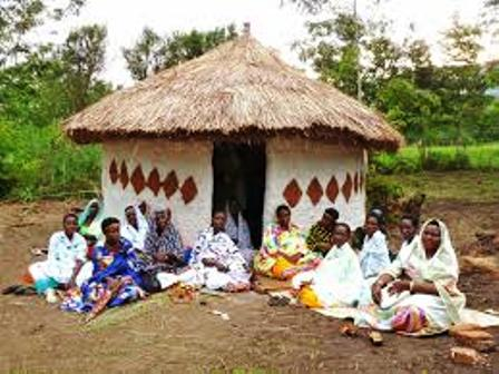 The traditional houses of the bahororo in uganda