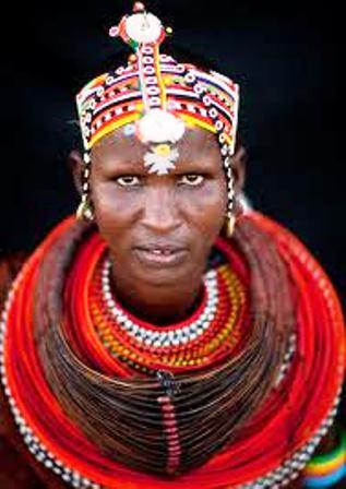 Clothing of Turkana People in Kenya