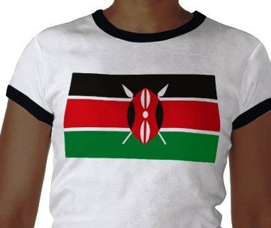 freedom fighters raising the Kenyan flag.
