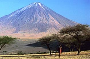 outcrop of ancient rock Ol Donyo Sabuk National Park