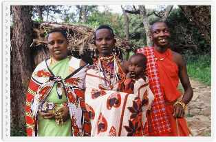 The family of the Masai people of Kenya