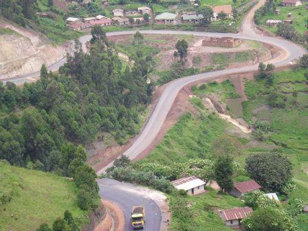 beautiful countryside to Lake Bunyonyi in Kabale