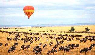 kenya balloon safaris in  Masai Mara Game Reserve in Kenya