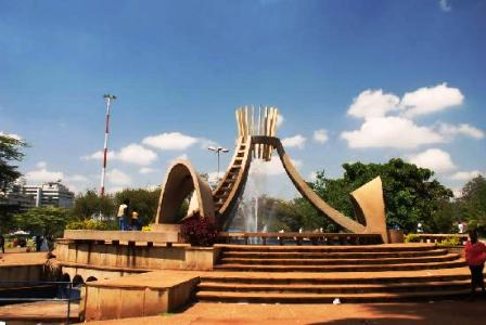 commemorative monument was constructed in 1973 upon the spot where Uhuru